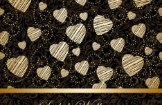 Golden Heart-shaped Pattern Background 4
