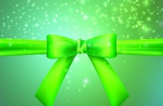 Green Vector Cover with Bow