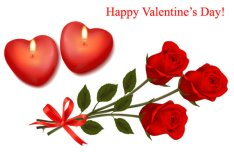 Happy Valentine's Day Greeting Card Vector Material 01