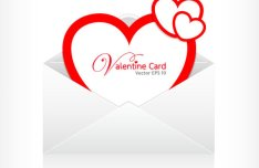 Happy Valentine's Day Greeting Card Vector Material 04