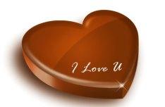 Heart-shaped Chocolate Layered Psd