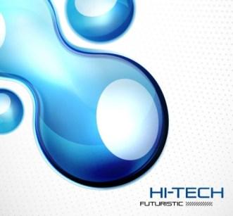 Hi-Tech Futuristic Vector Background 03