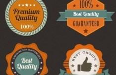 High Quality Retro Web Badge PSD