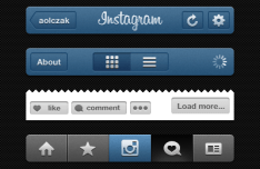 Instagram APP Gui Psd