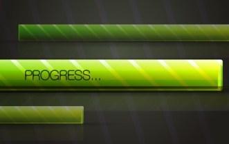 Modern Green Vector Progress Bar