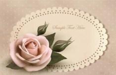 Pink Rose Valentine's Day Card 03