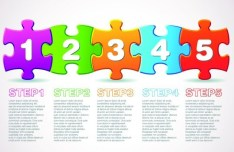 Puzzles Number Web UI Vector 01