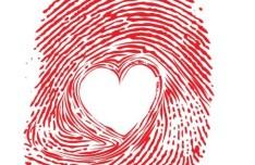 Red Fingerprint With Heart Inside