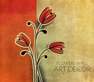 Retro Flower Wall Art Decor