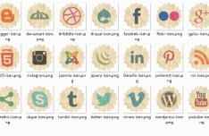 Retro Paper-Luke Social Icons
