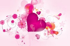 Romantic Valentine's Day Vector Background