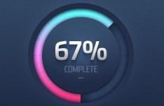 Round Progress Meter with Percentage