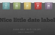 Set Of Elegant Little Date Label