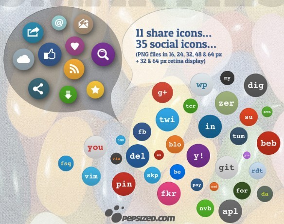 Set Of Social Media Smarties Icons