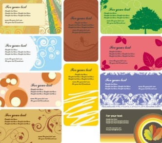 Set Of various Vector Card Background 02