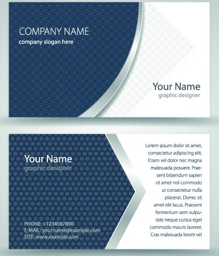 Simple Business Card Vector 03