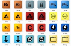 Simple Web Design Software Icons