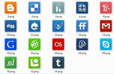 Social Media Small Rounded Icons