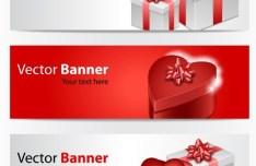Valentine's Day Gift Vector Banner