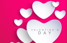 Valentine's Day Greeting Card Background Vector Material 01