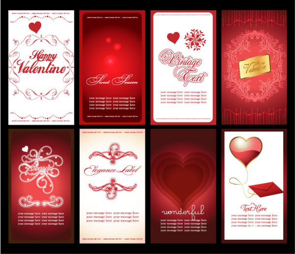 Valentine's Day Greeting Card Background Vector Material 03
