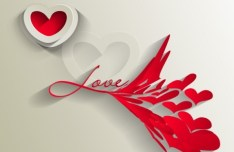 Valentine's Day Paper-cut Design Vector 04