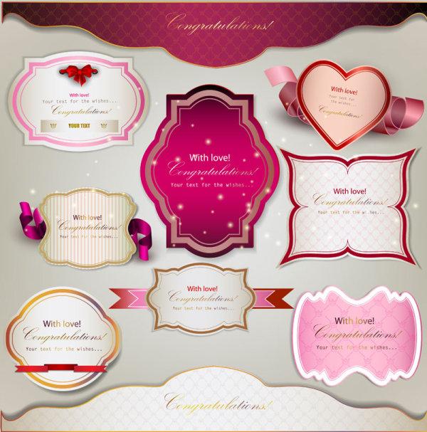 Valentine's Day Romantic Labels