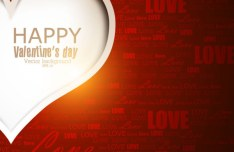 Valentine's Day Vector Background with Love and Heart
