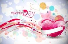Valentine's Day Vector Poster Background 02