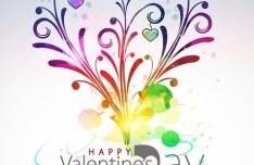 Valentine's Day Vector Poster Background 05
