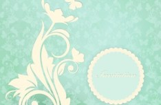 Vector Background with Vintage Patterns 02