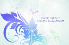 Vector Background with Vintage Patterns 03