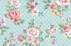 Vintage Watercolor Flowers Vector 03