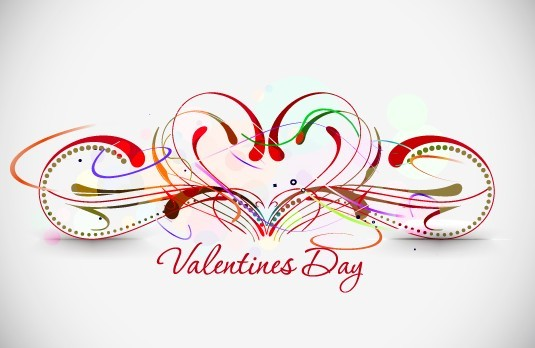 Warm Valentine's Day Greeting Card Vector 02