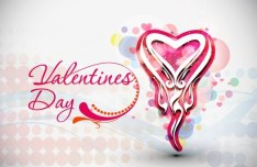 Warm Valentine's Day Greeting Card Vector 04