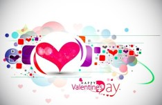 Warm Valentine's Day Greeting Card Vector 05