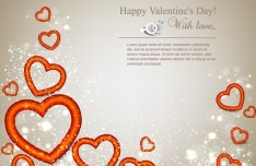 Warm Valentine's Day Greeting Card Vector 07