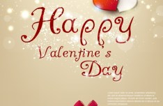 Warm Valentine's Day Greeting Card Vector 08