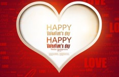 Warm Valentine's Day Greeting Card Vector 10
