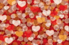 Warm Valentine's Day Vector Background