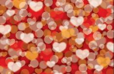 Warm Valentine's Day Vector Background