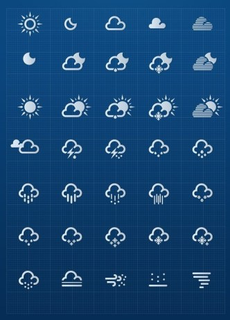 Weather Icons Vector Material