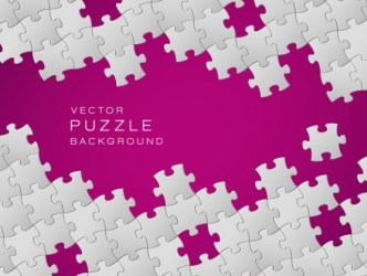 White and Rose Red Vector Puzzle Background