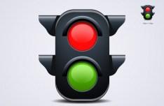 Lovely Traffic Light PSD