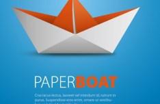 Paper Boat Vector Material