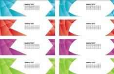 Set Of Irregular Shapes Banners Vector