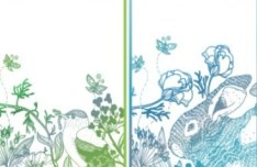 Set of Retro Vector Banners with Floral Patterns 02