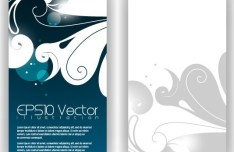 Vector Stylish Vertical Card with Flowers Background 02