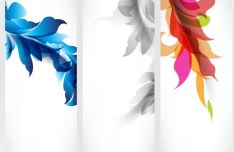 Vector Stylish Vertical Card with Flowers Background 04