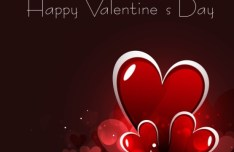 Fantastic Valentine's Day Card with Halo Background 03